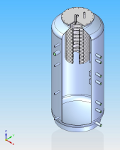 3D draw of hot water tank LMT 1