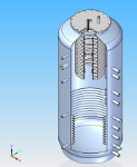 3D draw of hot water tank LMT 2