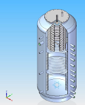 3D schemat zbiornika buforowego LMT 3