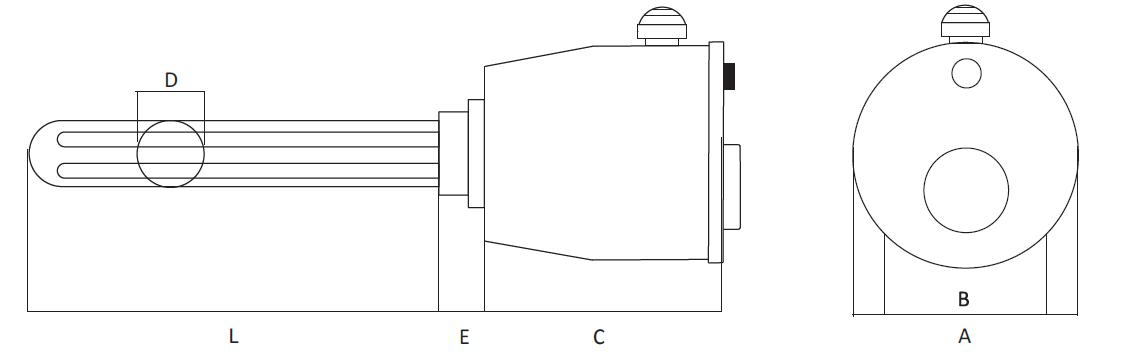 Nákres topného tělesa ETK