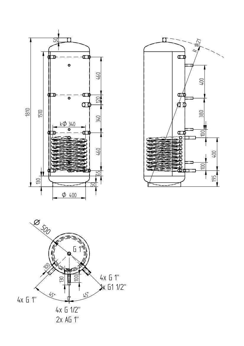 Akumulační nádrž 300l