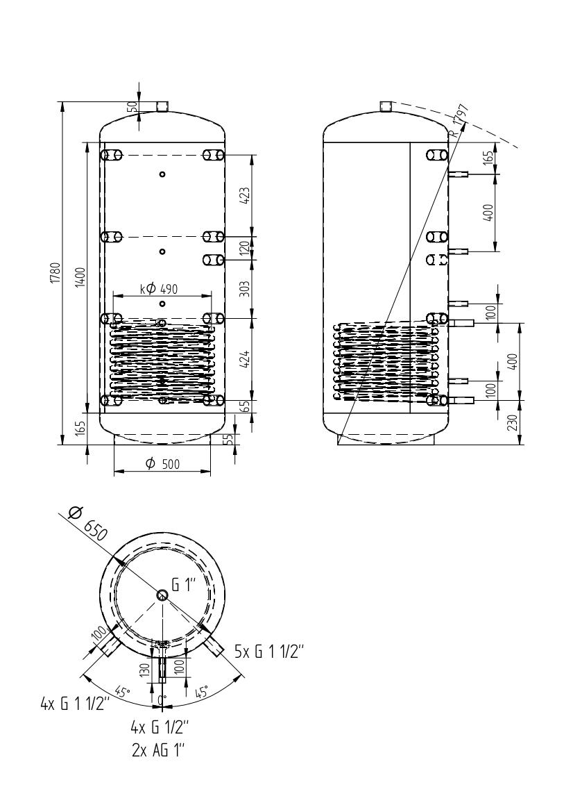 Akumulační nádrž 500l