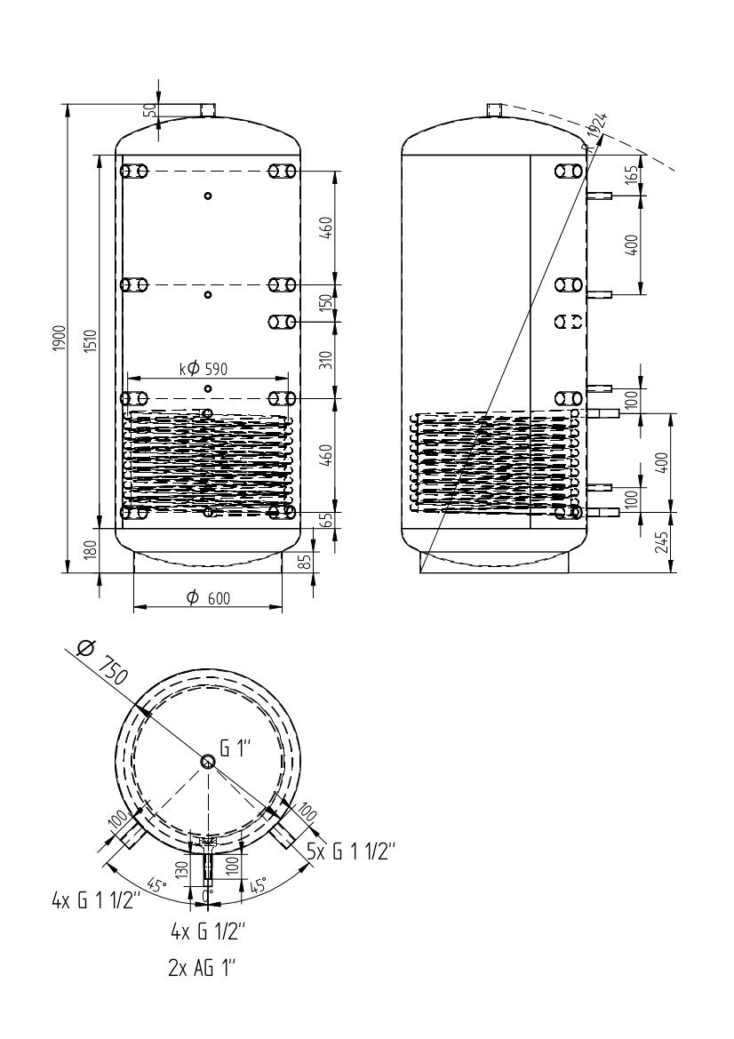 Akumulační nádrž 750l
