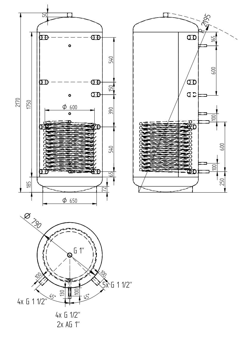 Akumulační nádrž 1000l