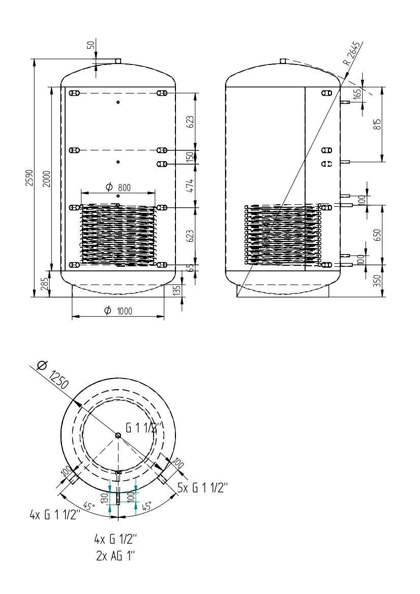 Akumulační nádrž 3000l
